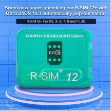 R-SIM12+ brand new Auto unlock IOS 12.2; IOS 12.3 pop-up  menu Updated Version