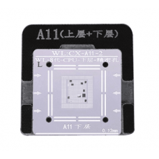 WL High-Quality A11 CPU Upper And Lower In One Tin Plate Steel Net BGA Reballing Stencil With Fixed Plate