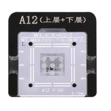 WL High-Quality A12 CPU Upper And Lower In One Tin Plate Steel Net BGA Reballing Stencil With Fixed Plate