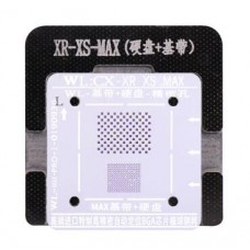 WL High-Quality PCIE Baseband IC Chip BGA Reballing Stencil Plant Tin Steel Net With Fixed Plate For IPhone Xs / Xs Max / XR