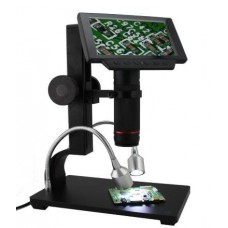 Andonstar ADSM302 5inch Display HDMI Microscope 1080P 560X Digital Microscope Camera With LED And Big Base Stand For Mobile Phone PCB Mainboard Repair Soldering And Electronics Industry
