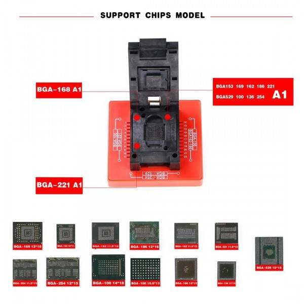 E-Mate X MOORC EMate 13 In 1 EMMC Tool BGA Socket For Easy
