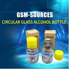 CIRCULAR GLASS ALCOHOL BOTTLE