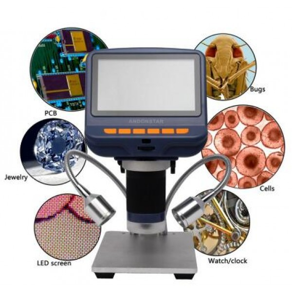 Andonstar AD106S 4 3inch Display Microscope 1080P 220X USB